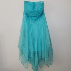 Deb Teal Blue Dress